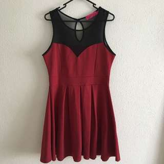 *PENDING* BOOHOO Wine Red Sleeveless Dress