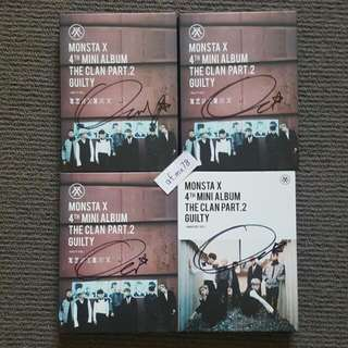 Hyungwon & Jooheon Signed Monsta X 4th Mini Album The Clan Part 2 Guilty MWAVE Meet & Greet