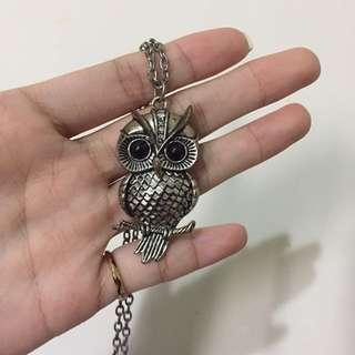 吳哥窟市集親自帶回可愛貓頭鷹項鍊