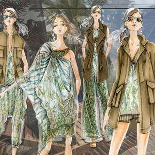 Intro to Fashion Illustration 101 (Womenswear- Series of 6)