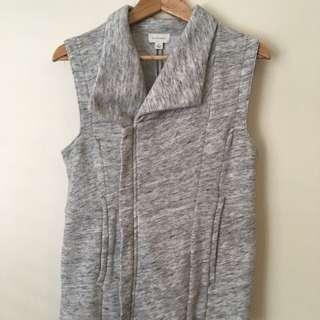 Witchery Vest Grey Top With Zip And Collar