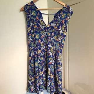 Blue Summer Mini Dress - S