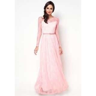 Zalia Lace Maxi dress