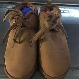 🚚 鞋帶雪靴 駝色 25CM
