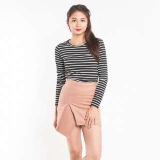 Brown Dakota felt skirt