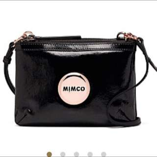 MIMCO Hip Bag Black With Yellow Gold