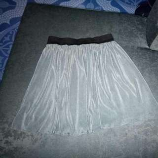 Grey Silk Skirt