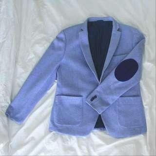 Man Light Blue Blazer