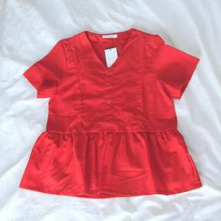 New Woman Blouse Red