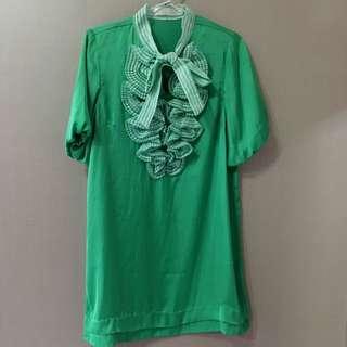 White Closet greenish dress