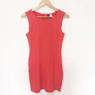 H&M Basic Red Dress