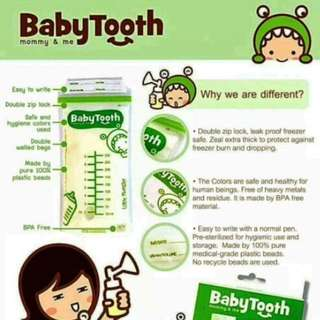 Baby Tooth Breast Milk Bags