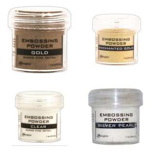 Ranger Embossing Powders Clear Superfine Gold Gold Superfine Silver Pearl