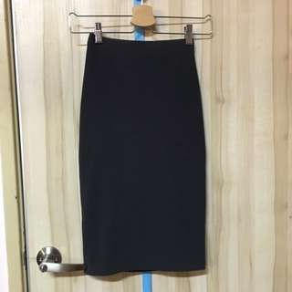 F21 Ribbed Midi Skirt