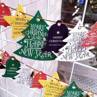 Falala Christmas Die-Cut Hang Tag