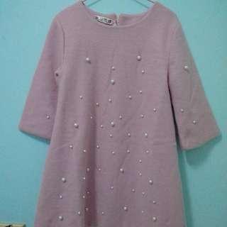 粉紅珍珠洋裝