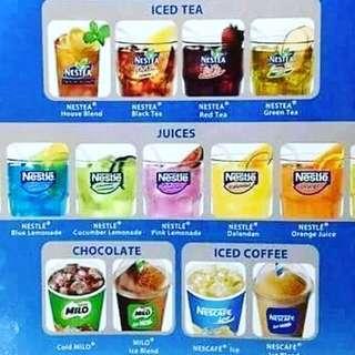 Nestle Juice , Iced Tea , Lemonade , Iced Coffee