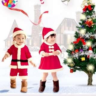 Brand New Children Christmas Costume Santa Claus Santarina