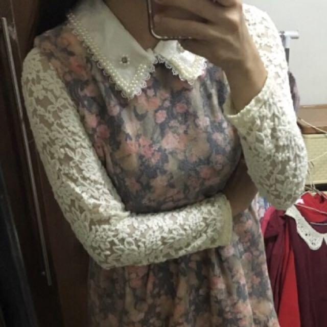 只有試穿一次洋裝