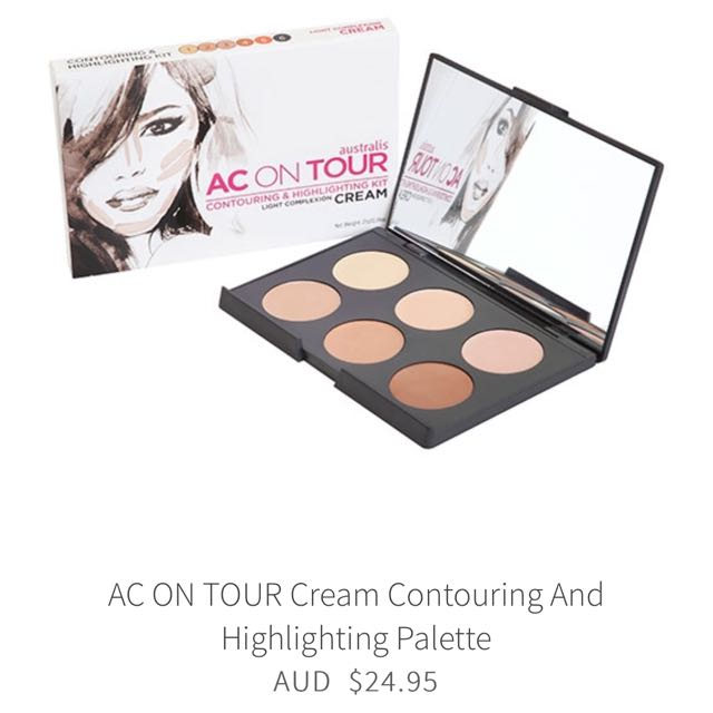 Australis Ac On Tour cream contouring and highlighting palette