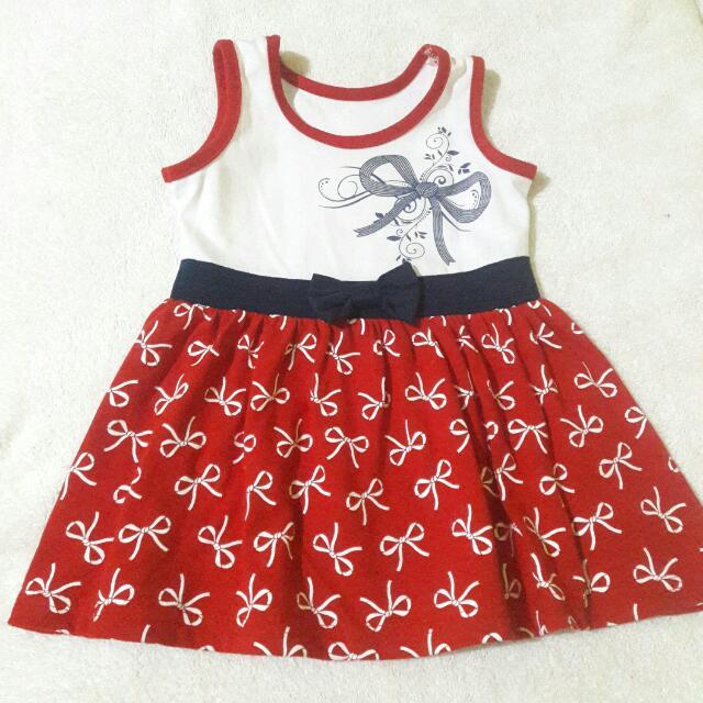 Bambini Sleeveless Bow Dress