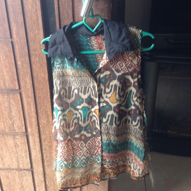 blouse lengan pendek