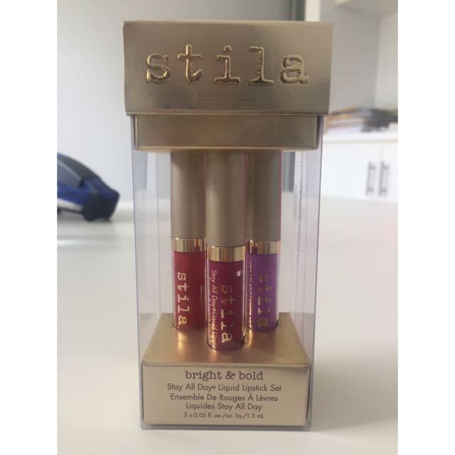 BNIB Stila Bright & Bold Liquid Lipsticks