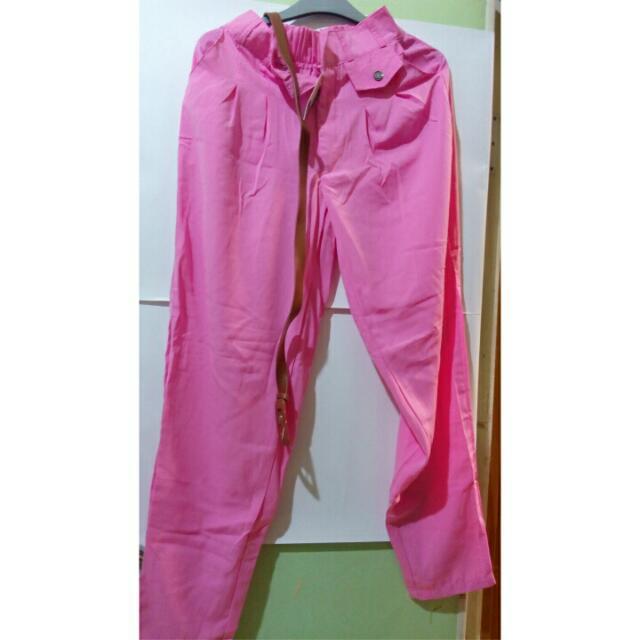 Celana Pink Licin
