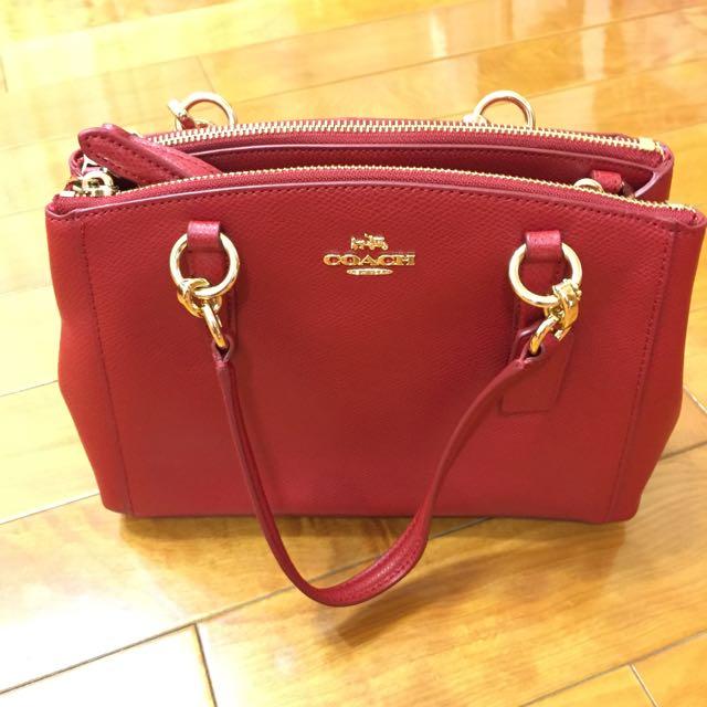 Coach Outlet:熱情紅兩用包,全新原價,聖誕節禮物