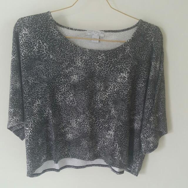Cotton On Grey Spotted Top