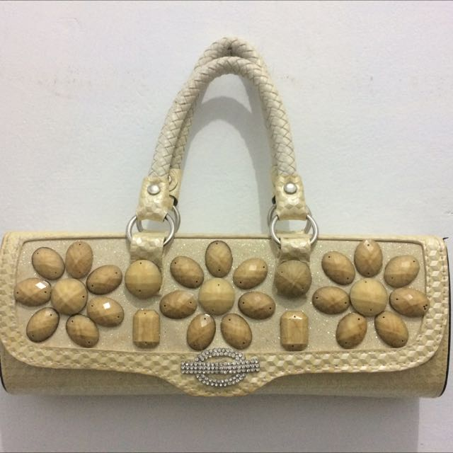 Creamy Clutch Bag