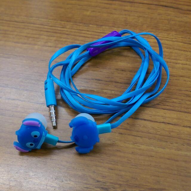 Disney迪世尼  史迪奇耳機(可以接聽電話)
