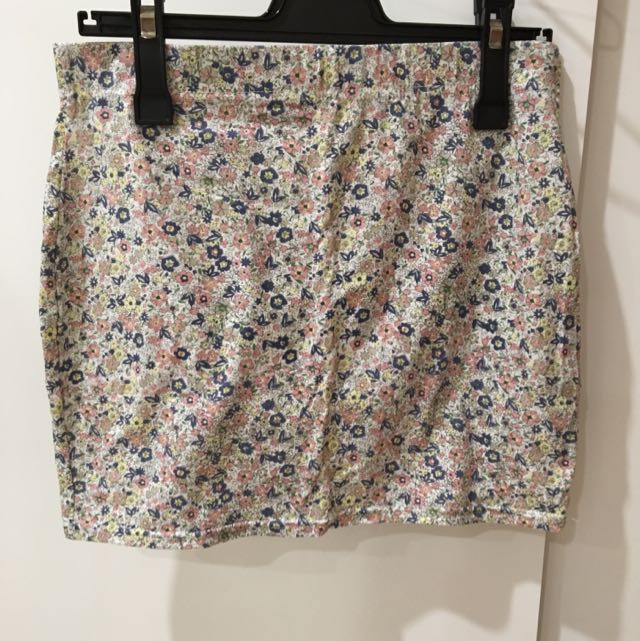 Factorie Floral Tight Skirt
