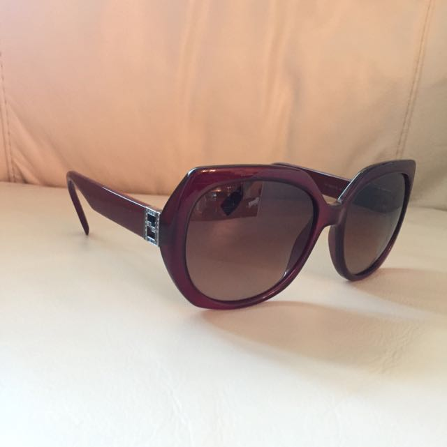 Sun GlassesFf0047/s 100% Authentic FENDI Women's Sunglasses Burgundy Mkgd8