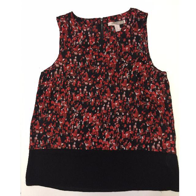 Forever 21 Red & Black sleeveless Blouse