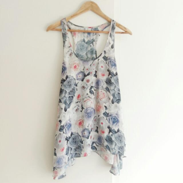 Forever New Floral Top Size 10