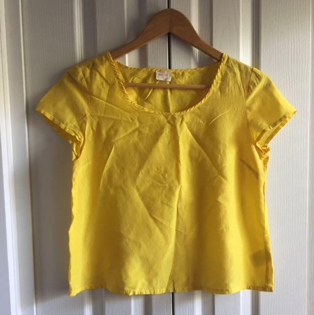 Gorman - Summer 12, Yellow Silk Blouse