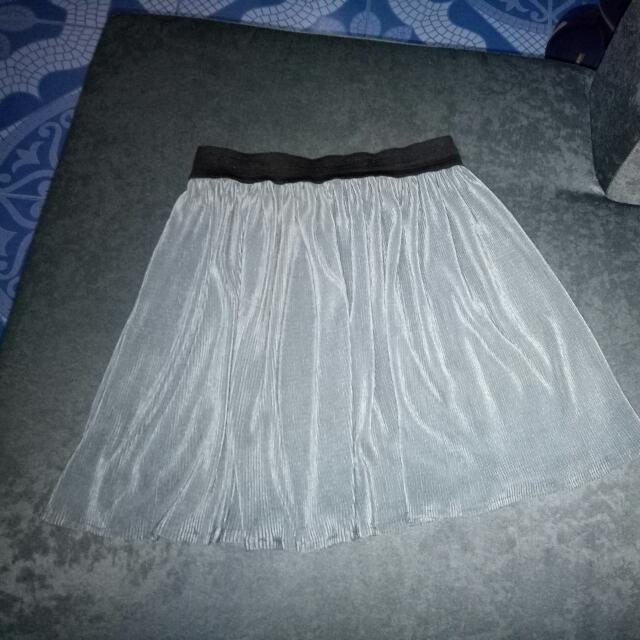 Grey Silk Skirt