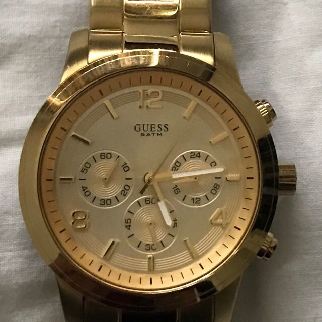 Guess Gold Chronograph Watch