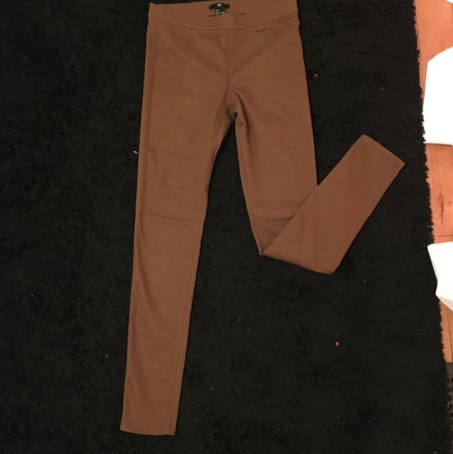 H&M Pull On Tan Skinny Jeans