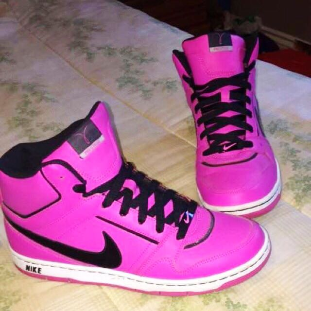 Hot Pink Nike Prestige High tops