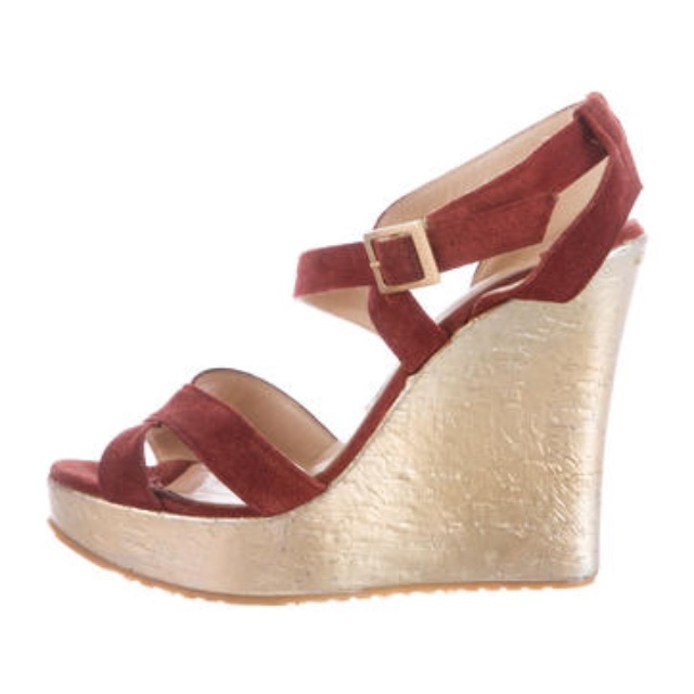 JIMMY CHOO PERFECT SUEDE SANDALS