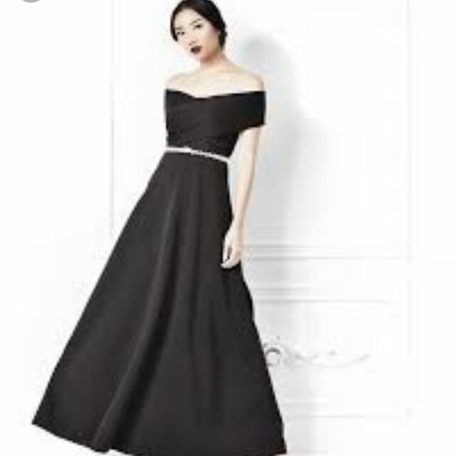 LOW OFFER Karimadon Black LONG gown, Preloved Women\'s Fashion ...