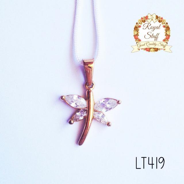 Liontin Kalung Titanium - Capung Gold 419