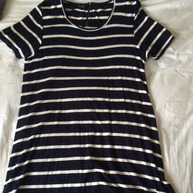 Little Lies Navy And White Dress