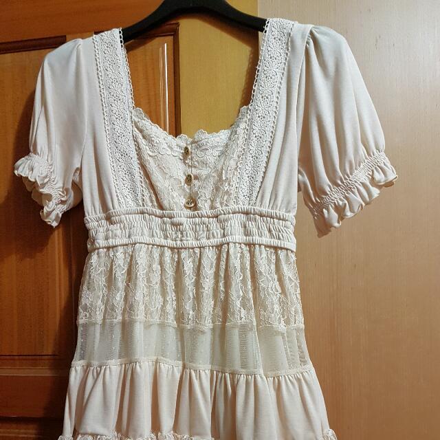 LIZLISA限量絲質網紗洋裝(膚色)