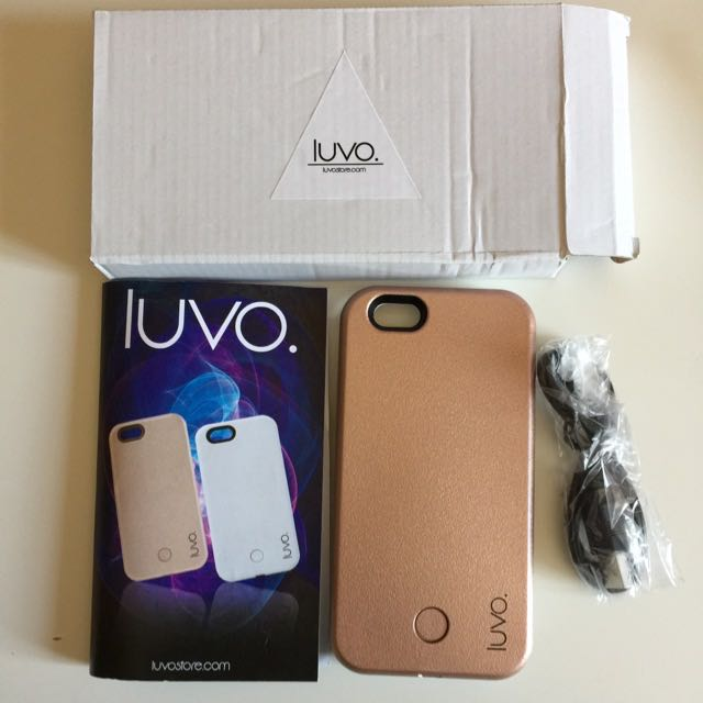 LUVO Light Up Selfie Case iPhone 6/6S Gold