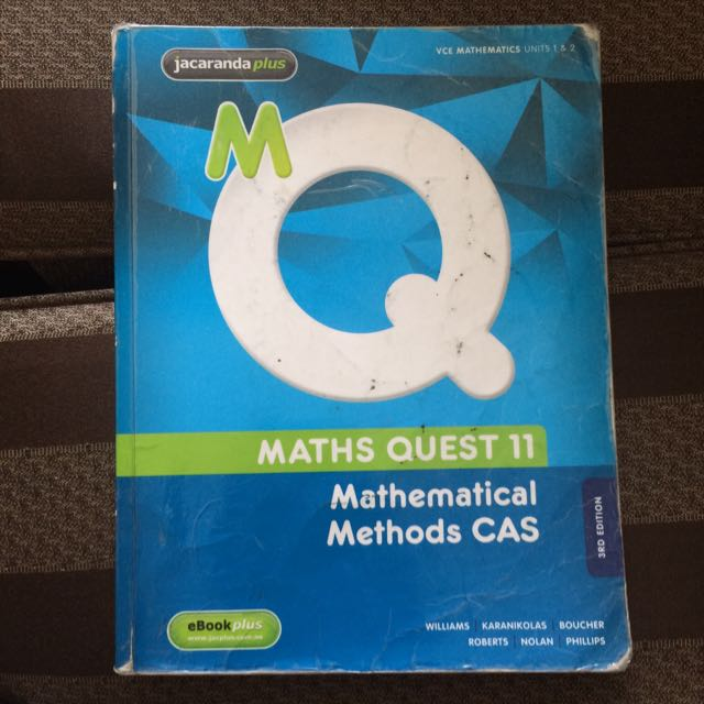 Maths Quest 11 Mathematical Methods CAS