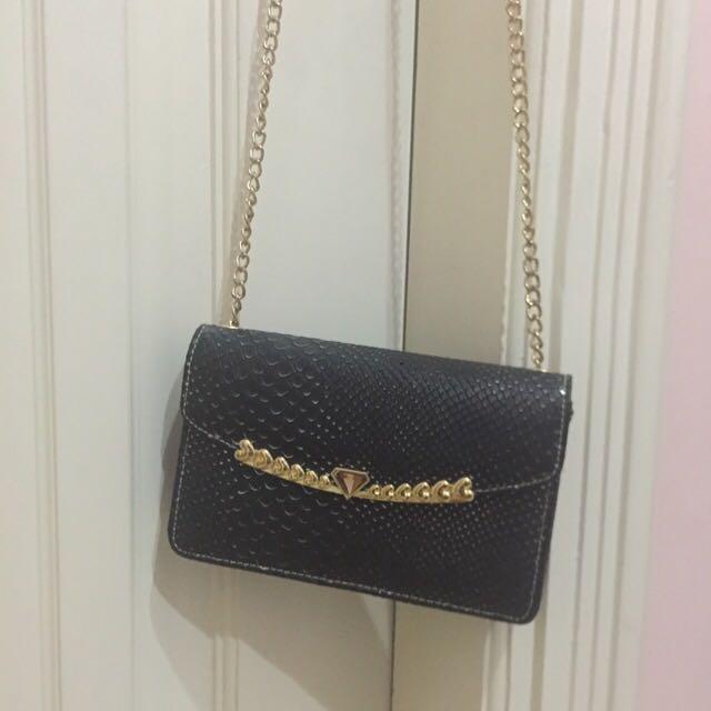 Nicole Lee Small Crossbody Black Bag