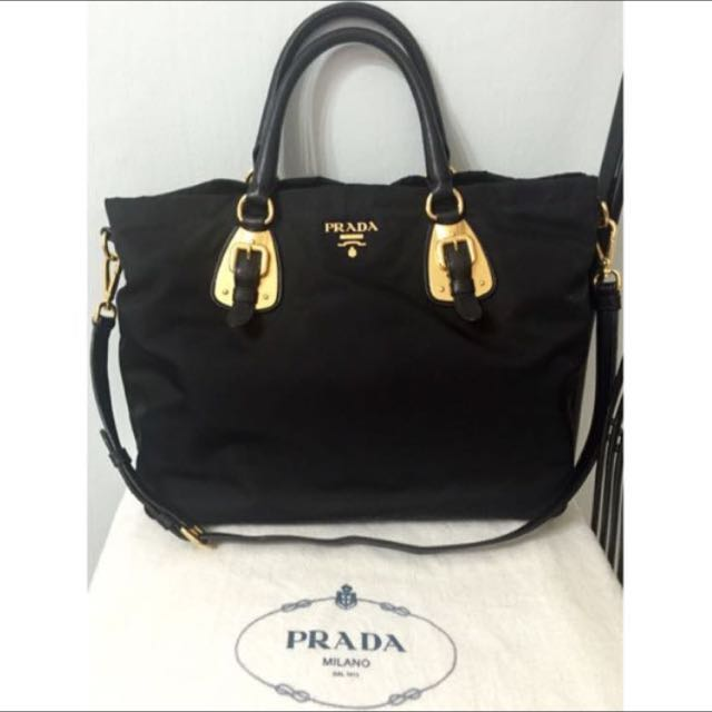 81d0c65c79 ... official prada nylon tote bag 100 authentic dust bag included luxury  bags wallets on carousell a0b00